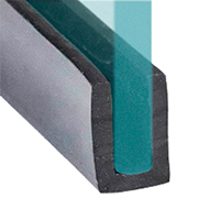 П-образный резиновый уплотнитель для стекла